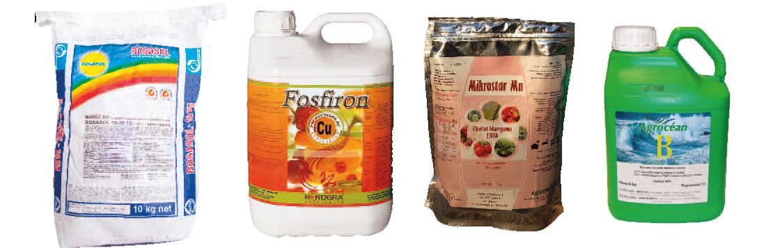 Rosasol / Fosfiron Cu / Mikrostar Mn / Agrocéan B