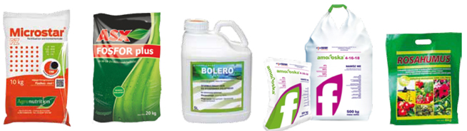 Microstar PZ / ASX Fosfor plus / Bolero / Amofoska 4-16-18 / Rosahumus