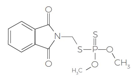 Wzór strukturalny substancji fosmet