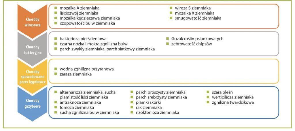 Choroby ziemniaka lista chorób